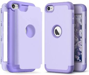 For iPod Touch 5th 6th & 7th Gen - Hard Hybrid Armor Impact Case Lavender Purple