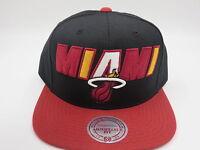 Miami Heat Wool Mitchell & Ness NBA Retro Throwback Snapback Hat Cap