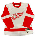 Detroit Red Wings Adidas Authentic NHL Hockey Jersey (Size 52/L) (White/Red)