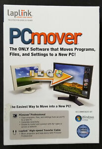 Laplink PC Mover includes (CD, Transfer Cable, Quick Start Guide) Brand NEW SEAL