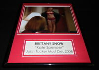 Brittany Snow Signed Framed 11x14 Lingerie Photo Display AW John Tucker Must Die
