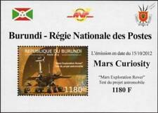 NASA MARS CURIOSITY Exploration Rover Vehicle Space Stamp Sheet #6 2012 Burundi