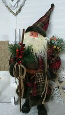 Babbo Natale Santa Claus Babbo Natale cappotto Shabby Landhaus VINTAGE