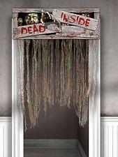 Rideau Porte Halloween Décoration Suspendu Accessoire Horreur Fête zombie dead inside