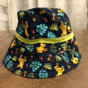 Disney Store Baby The Jungle Book Bucket Hat with Chin Strap Mowgli 12-18 Months