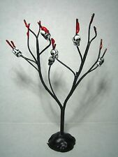 Dollhouse Miniature Halloween Spooky Black Tree with Skulls
