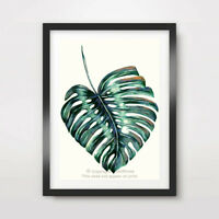 TROPICAL PALM LEAF PAINTING ART PRINT Poster Home Decor Wall Picture A4 A3 A2 +