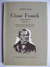 histoire musique César Franck Liège TBE orgue organ music history