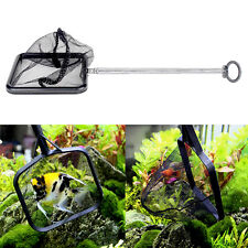 Aquarium Handle Extendable Shrimp Small Betta Tetra Fish Tank Net Square New