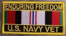Embroidered Patch Gulf War Enduring Freedom Veteran Navy NEW