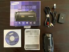 Great Condition Samsung Smx-F50Bn/Xaa Flash Memory Sd Camcorder 65X Intel zoom
