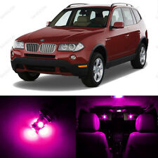 13 x Pink/Purple LED Interior Light Package For 2004-2010 BMW X3 Series E83