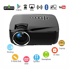LED Home Theater Mini Android Projector Bluetooth WiFi HD Online TV Movie Games