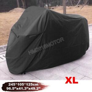 XL Motorcycle Cover Black for Suzuki Katana GSXR GSXS GSX 1000 1100 600 750 1250