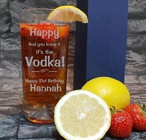 Personalised Engraved Hi Ball Tumbler Comedy Vodka glass Birthday/Xmas  HBB91