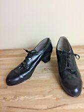 Vintage Shoes Size 7 Nwob Nurse Shoes Black Orthopedic Oxford Wingfoot 1940's