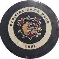 HAMILTON BULLDOGS OFFICIAL SPONSORED GAME PUCK INGLASCO MFG. MADE IN CANADA 🇨🇦