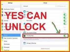 iCloud Removal Unlock Apple ID ACTIVATED iPHONE iPad iPod FMI Turn OFF Service