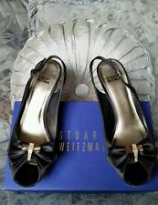 STUART WEITZMAN $425 CHOCOLATE BROWN SATIN DRAGONFLY BEJEWELED PUMPS 42 10.5