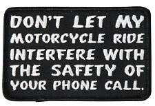 Phone Call  EMROIDERED 4 INCH IRON ON BIKER PATCH