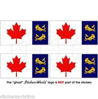"CANADA Canadese GUARDIA COSTIERA Bandiera CCG Adesivi 50mm (2"") Stickers, x4"
