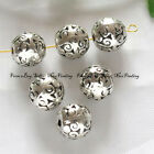 b1003 50pcs Bali Style Alloy Metal Round Spacer Beads 9mm
