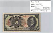BILLET BRESIL - 20.000 REIS - L 1923 1A - RARE!!!!!