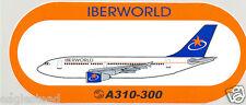 Baggage Label - Iberworld - A310 300 - Airbus Sticker (BL459)