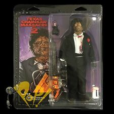 "Texas CHAINSAW Massacre 2 LEATHERFACE 8"" RETRO Clothed Action Figure NECA!"