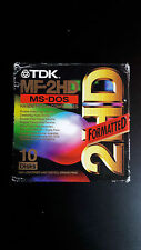 TDK MF-2HD MS-DOS FORMATTED 9 FLOPPY DISKS