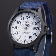Men Outdoor Date Stainless Steel Military Analog Quartz Army Wrist Watch Nice UK