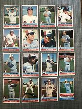 1976 MONTREAL EXPOS Topps PARTIAL MLB Team Lot 16 Cards ROGERS PARRISH DEMOLA