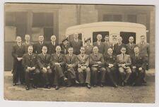 Lancashire postcard - Borough of Chorley Medical Vehicle and staff - RP