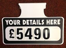 12 X Personalised Car For Sale Signs Board Price / Pricing Sun Visor Vehicle Kit