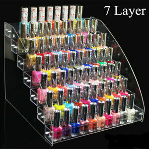 Nail polish makeup rack 2 to 7 layers hold 20 to 70 bottles of nail polish