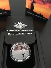 2011 $1 SILVER PROOF COIN - KANGAROO AT SUNSET - BRILLIANT COIN