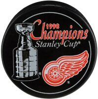 Detroit Red Wings 1998 Stanley Cup Champions Souvenir Hockey Puck