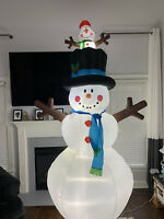 Gemmy Animated Airblown Inflatable Prototype Snowman & Pop Up Snowkid Yard Decor