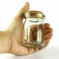 2 Pcs 100ml (75*55mm)Glass Storage Jars Bottle Vial Container with Cork Stopper