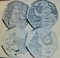 PADDINGTON BEAR 4 SET 50p PENCE TOWER + PALACE + CATHEDRAL + STATION COIN £6.49