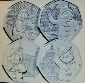 ALL 4 Paddington dear COIN'S IN SET TOWER + PALACE + CATHEDRAL + STATION