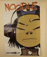 Jamie Hewlett 1st Noodle original Gorrillaz 99cm x150cm poster circa 2007.