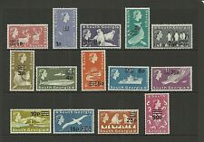 South Georgia 1971 Decimal currency overprints SG 18 - 31 MNH