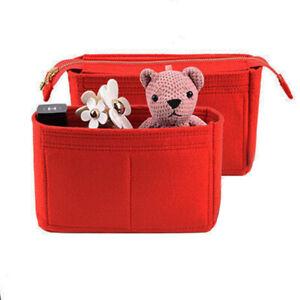 2Pcs Handbag Organizer Insert, Felt Purse Organizer with Zip For LV NeoNoe