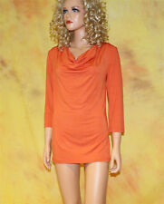 Wasserfall-T-Shirt in orange Gr. 36