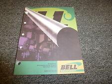 Bell B35C B40C Articulated Dump Truck Owner Operator Maintenance Manual T167176