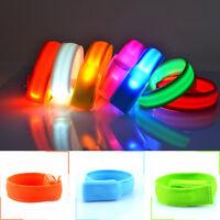 Glowing LED Flashing Wrist Band Bracelet Arms Bands Belt Light Up Dance Party