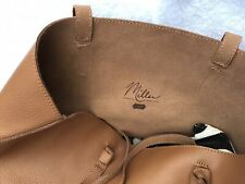 Mud Pie Miller Leather Tote - Tan