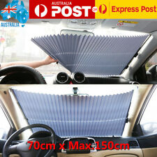 Car Front Windshield Visor Retractable Front Window Sun Shade Curtain Auto Shade