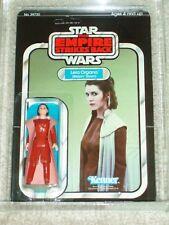 Vintage Star Wars 1980 Kenner AFA 75 PRINCESS LEIA BESPIN GOWN ESB BACK CARD MOC